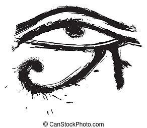 眼睛, ......的, horus