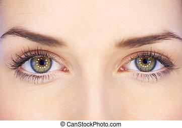 眼睛, 绿色