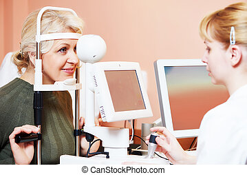 眼科医, 仕事, ∥あるいは∥, 女性, 検眼士