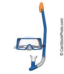 眼鏡, 以及, 水下通气管