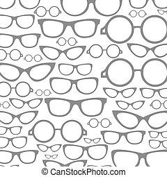 眼鏡, a, 背景