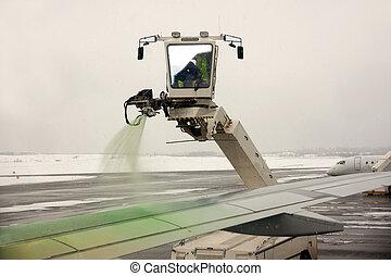 着氷除去, の, 航空機