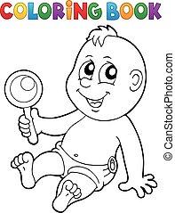着色, イメージ, 主題, 本, 7, 赤ん坊