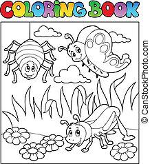 着色, イメージ, 虫, 1, 主題, 本