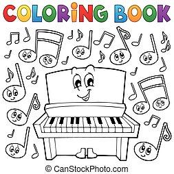 着色, イメージ, 1, 主題, 本, 音楽