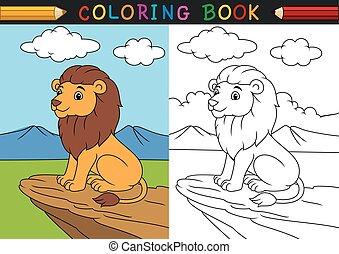 着色, ライオン, 本, 漫画