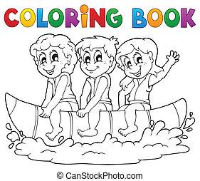 着色, 主題, 水, 3, 本, スポーツ