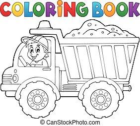 着色, 主題, 1, 砂, 本, トラック