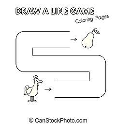 着色, 子供たちがゲームをする, 本, 鶏, 漫画