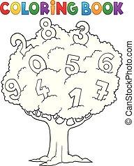 着色, 木1, 主題, 本, 数