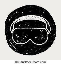 睡眠マスク, いたずら書き