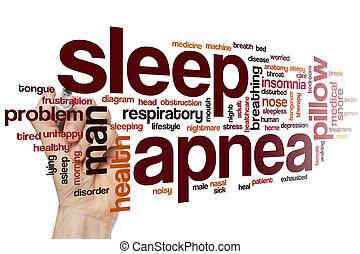 睡眠, 単語, apnea, 雲