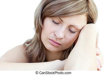睡眠, 女性の 肖像画, 美しい