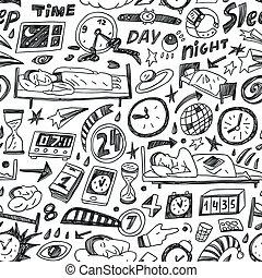睡眠, backgound, -, seamless, 時間