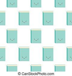 睡眠, seamless, 漫画, マスコット, 特徴, スタイル, かわいい, 本, kawaii, ベクトル, イラスト, 白, パターン, 背景