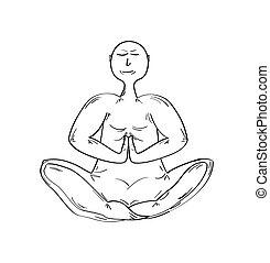 瞑想する, 修道士