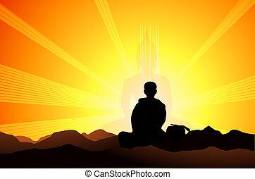 瞑想, 抽象的
