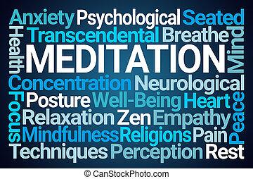 瞑想, 雲, 単語