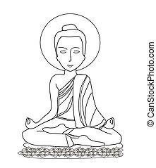 瞑想, buddhist 修道士