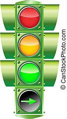 矢量, 交通燈
