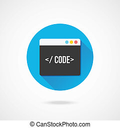 矢量, 代碼, 編輯, 圖象