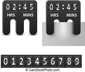 矢量, 倒計時, 附加, 机械, 定時器