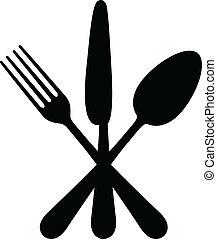 矢量, 刀叉餐具, 描述
