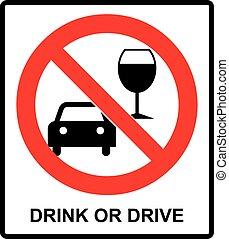 矢量, 君, t, 喝酒和開車, 徵候。