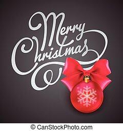 矢量, 問候, card., 插圖, 聖誕節