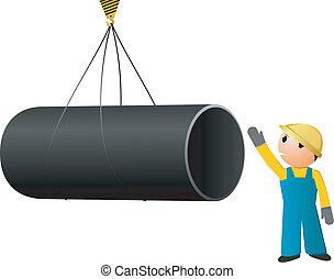 矢量, 圖像, 裝貨, 管子
