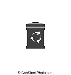矢量, 垃圾, 設計, 圖象, 插圖