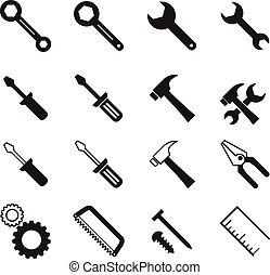 矢量, 工具, 彙整, 建設, 插圖, 符號