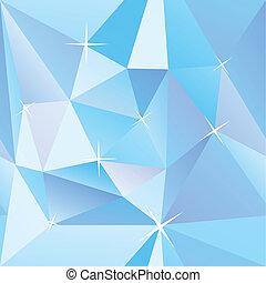 矢量, 幾何學, 冰塊, 背景, 摘要, 藍色