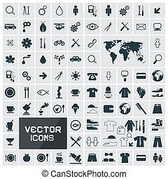 矢量, 廣場, 套間, 圖象, 集合