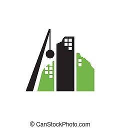 矢量, 建筑物, 描述, 标识语, 设计, 失事, 爆破, 球, 图标