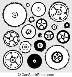 矢量, 彙整, ......的, 鐘, 齒輪