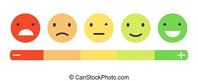 矢量, 推荐, 测量, 意见, 感情, 赞同, scale., concept., 反馈, 状态, 客户, 回顾