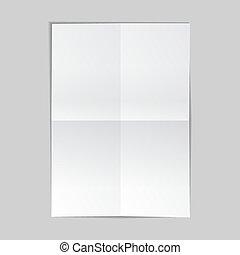 矢量, 描述, 纸, 背景, 灰色, 被单