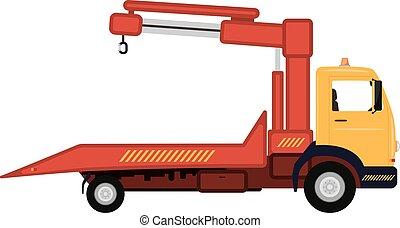 矢量, 插圖, 卡通, 汽車, 拖卡車