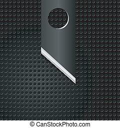 矢量, 插圖, ......的, 摘要, 金屬, 背景, 由于, 刀