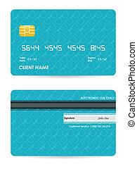 矢量, 插圖, ......的, 詳細, 信用卡, 由于, 行家, 設計