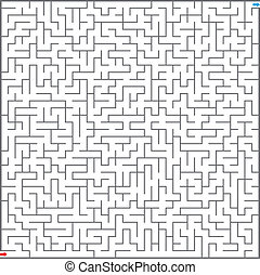 矢量, 插圖, ......的, 迷宮