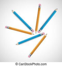矢量, 插圖, ......的, a, 鉛筆