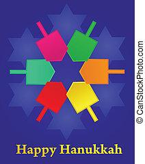 矢量, 插圖, ......的, hanukkah