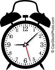 矢量, 插圖, ......的, retro, 鬧鐘