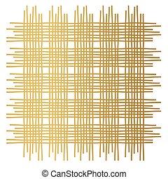 矢量, 插圖, 黃金, 圖案, 纖維, 交織, -