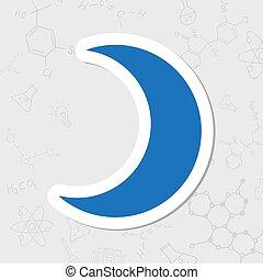 矢量, 月亮, 图标