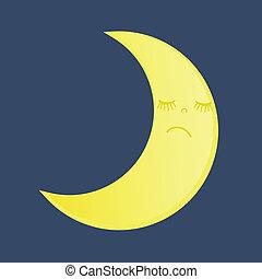 矢量, 月亮, 圖象