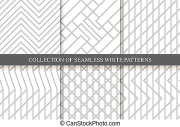 矢量, 有條紋, seamless, 幾何學, patterns.