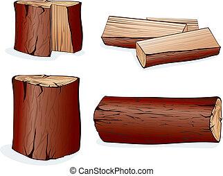 矢量, 木頭